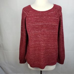 🔵5/$50🔵 Faded Glory Red Knit Sweater Size M